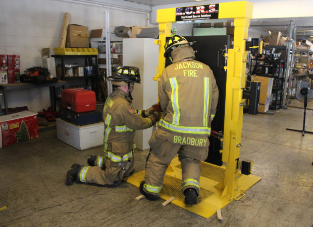 Firefighters Practice Forcible Entry Tactics With New Simulator Jackson Township